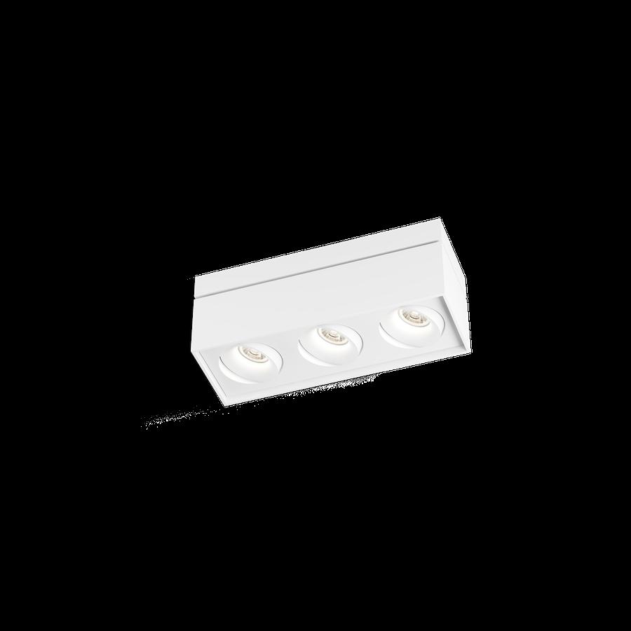 Sirro 3.0 LED 3x10W 1800-2850K warm dim 95CRI 220-240V, Valge