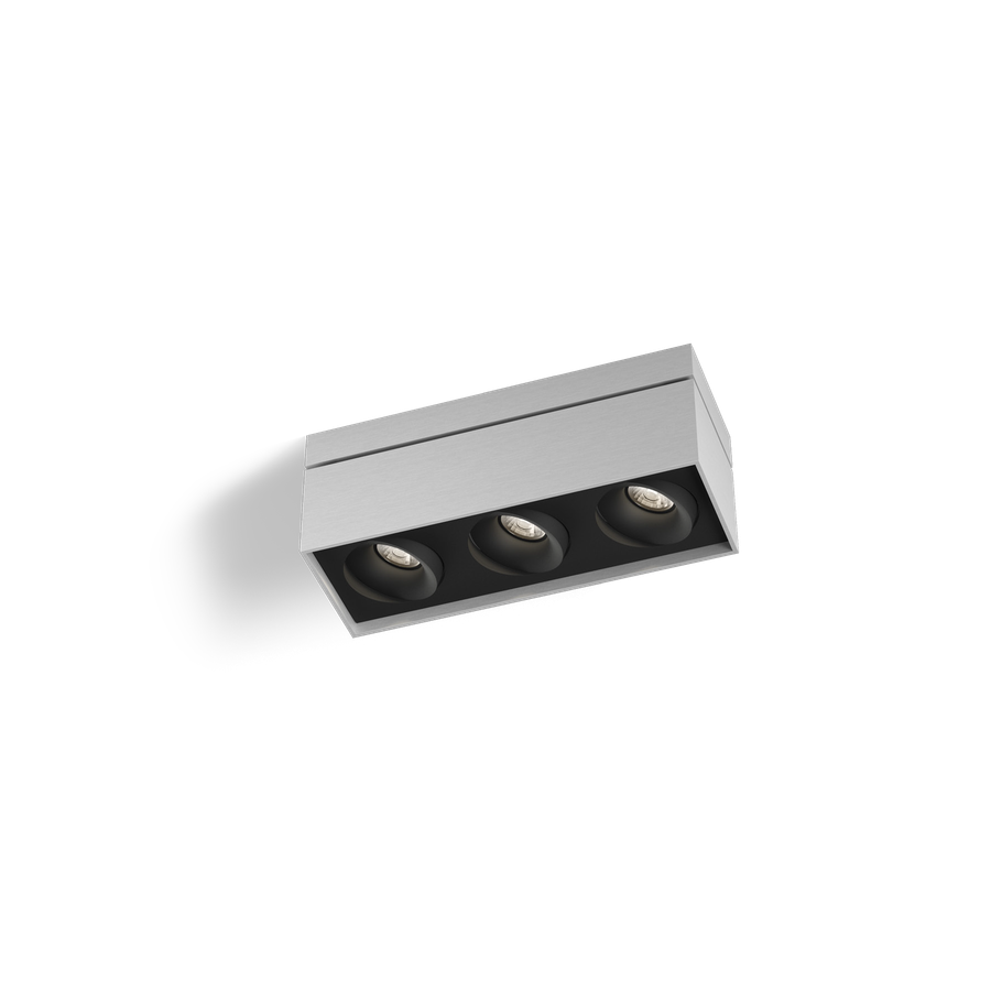Sirro 3.0 PAR16 3x max.35W GU10 100-240V, Alumiiniumvärv/Must
