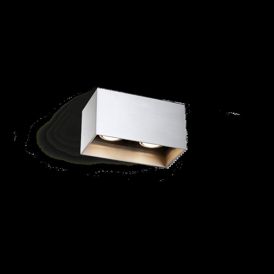 Box Ceiling 2.0 LED 2x8W 3000K dim 80CRI 220-240V, Alumiiniumvärv