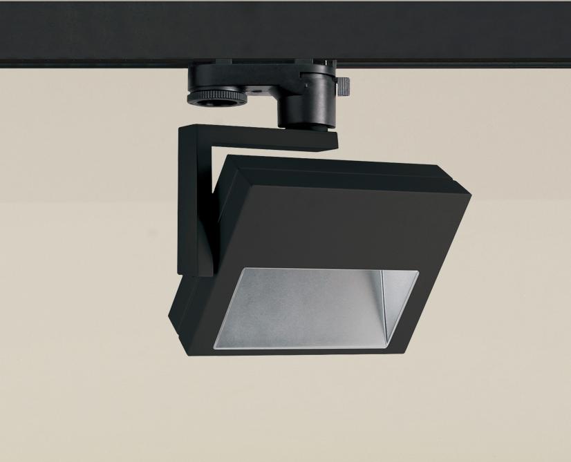 Siinivalgusti SLIDE 230V LED 15W 1900lm 3000K 100º, asümmeetrilise optikaga; alumiinium, must
