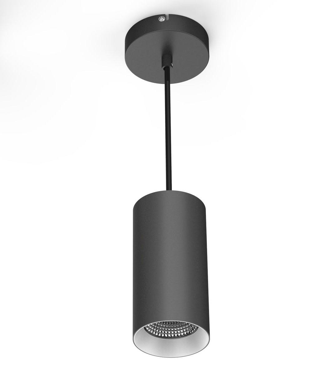 Rippvalgusti PD02A LED 18W 1450lm 3000K, hämardatav; alumiinium, must