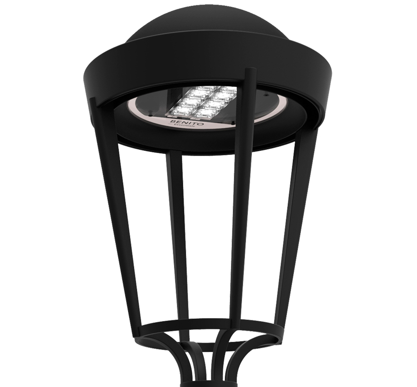 Tänavavalgusti CLASSIC LED 35W 3000K 3605lm, IP66 IK09; PREMIUM - B10L90 100000h DALI; alumiinium, must