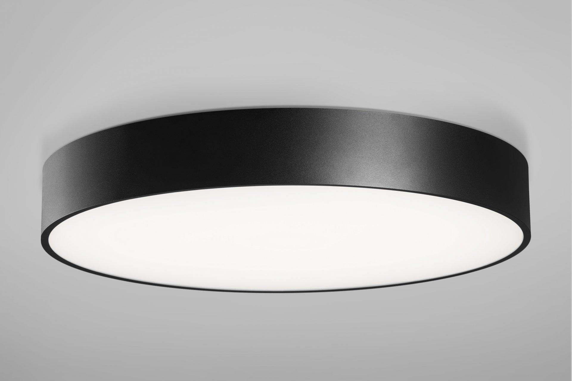 Huge LED 30,4W 4020m 3000K, IP40 ø600x87mm, alla valgusega, alumiinium, must / opaalne hajuti