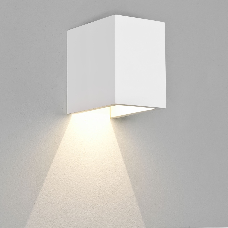 Parma 110 Max 6W GU10 LED IP20 seinavalgusti, hämardatav, kips