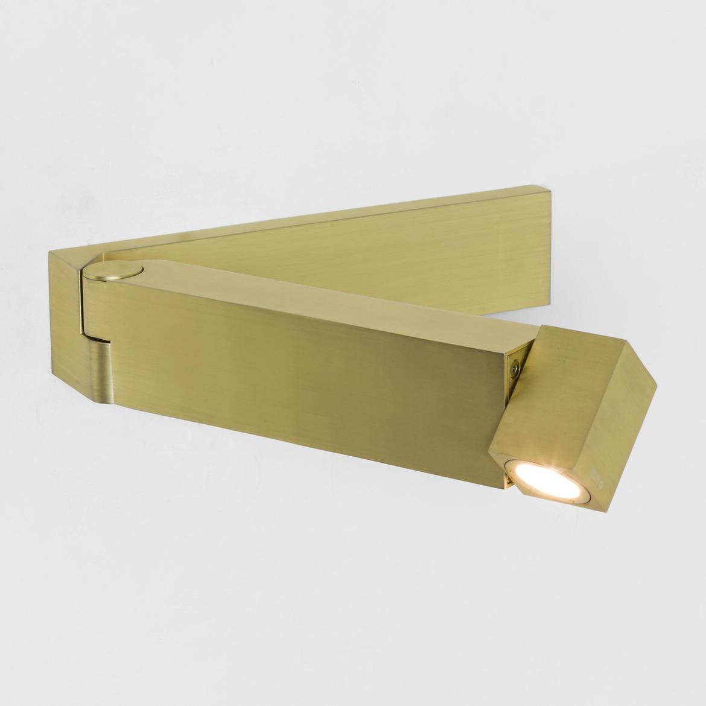 Tosca LED 2,2W 61lm 2700K CRI90 IP20 seinavalgusti, lülitiga, matt kuld