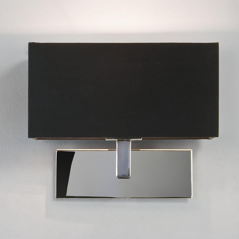 Park Lane Max 60W E14 IP20 seinavalgusti, hämardatav, poleeritud kroom, must vari