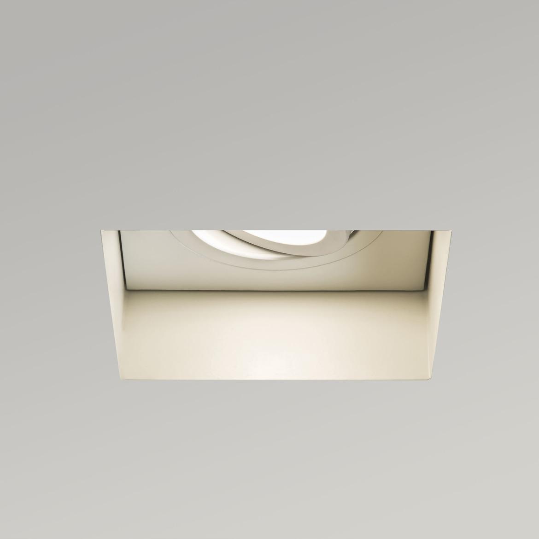 Trimless Square Adjustable Max 6W GU10 LED IP20 süvisvalgusti, hämardatav, matt valge
