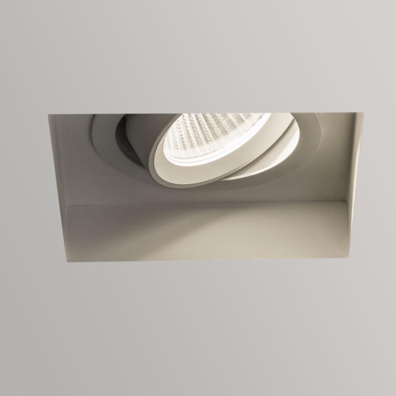 Trimless Square Adjustable LED 6,8W 544lm 2700K 34° IP20 süvisvalgusti, hämardatav, matt valge, liiteseadmeta