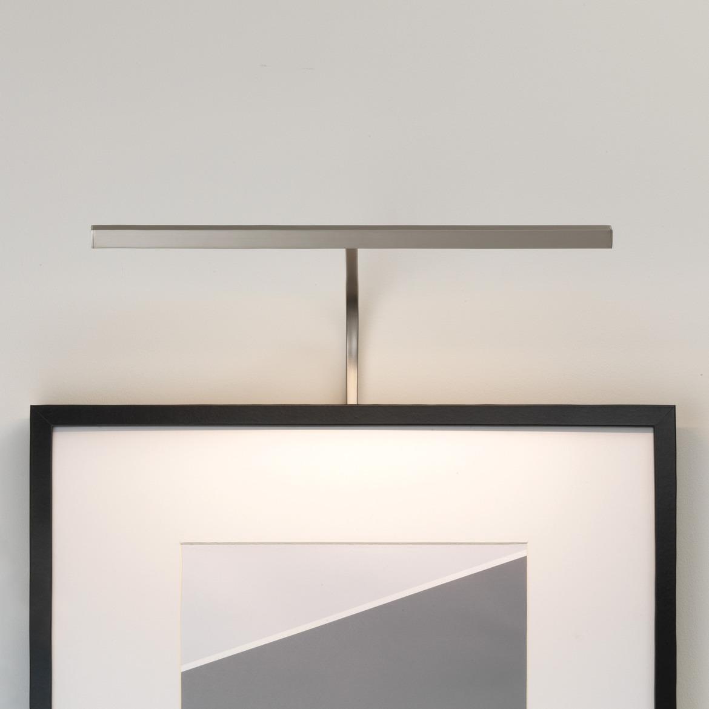 Mondrian 400 Frame Mounted LED 4,6W 161lm 2700K IP20 pildivalgusti, hämardatav, matt nikkel, liiteseadmeta