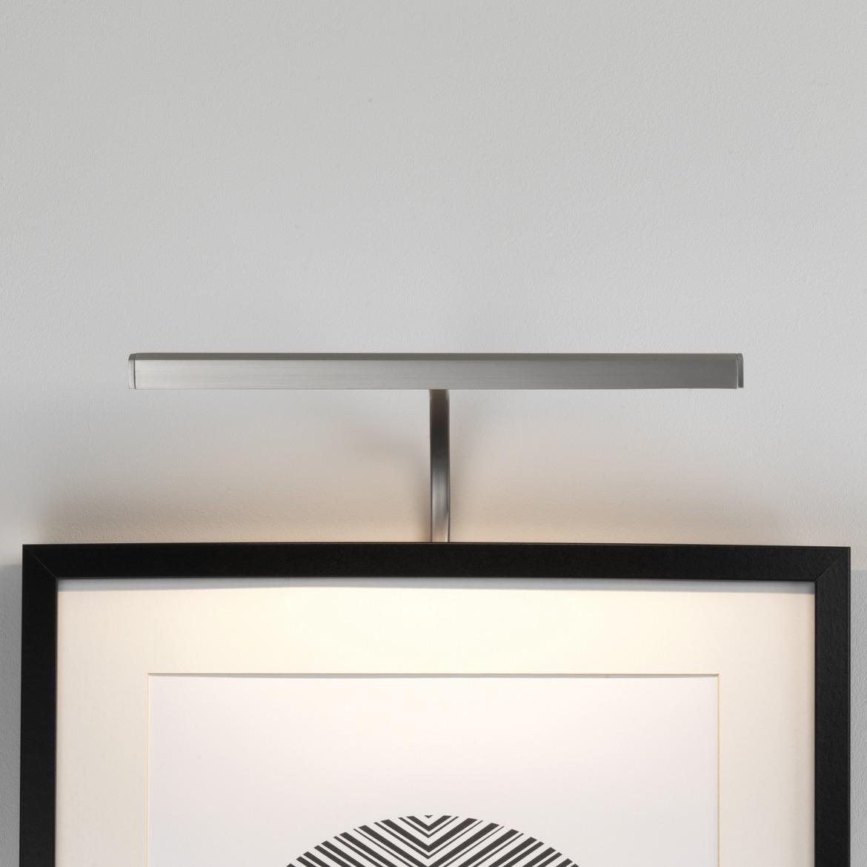 Mondrian 300 Frame Mounted LED 3,6W 112lm 2700K IP20 pildivalgusti, hämardatav, matt nikkel, liiteseadmeta