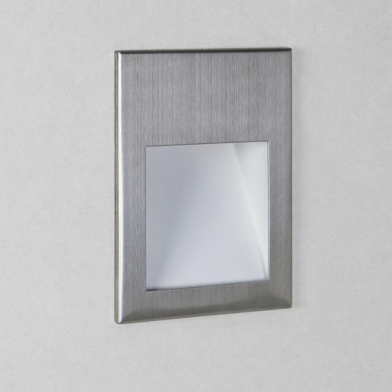 Borgo 90 LED 2W 72lm 3000K CRI90 IP20 seina süvistatav valgusti, hämardatav, harjatud roostevaba, liiteseadmeta