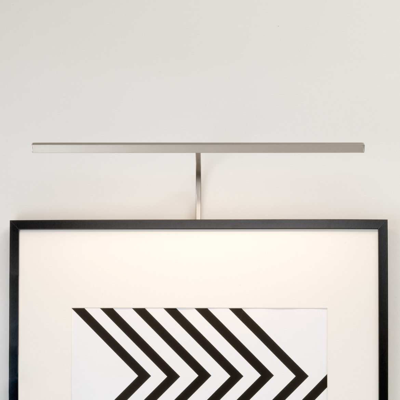 Mondrian 600 Frame Mounted LED 8,1W 219lm 2700K IP20 pildivalgusti, hämardatav, matt nikkel, liiteseadmeta