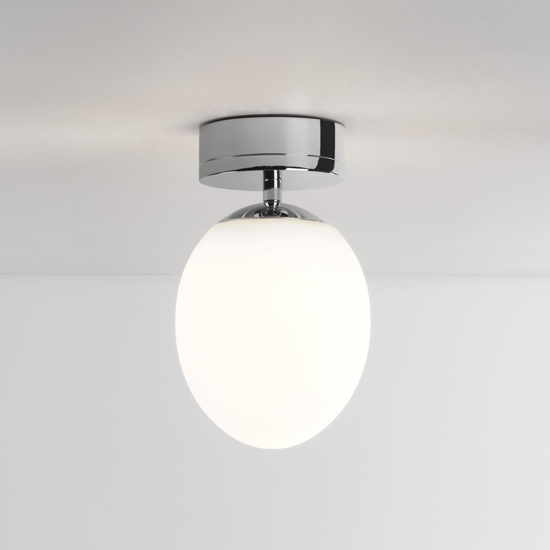 Kiwi Ceiling LED 7,3W 555lm 2700K IP44 laevalgusti, poleeritud kroom, klaasist hajuti
