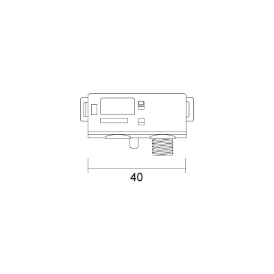 12V kinnitusadapter must