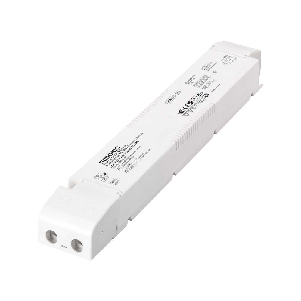 100W LED DRIVER 24V DALI/SWITCH DIM h30x43x295mm