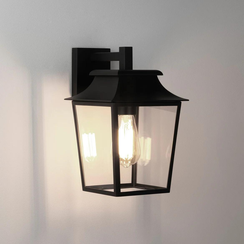 Richmond Wall Lantern 200 Max 60W E27 IP23 seinavalgusti, hämardatav, must, klaasist hajuti