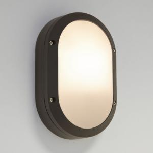 ARTA Oval 1x20W E27 CFL, must, välisvalgusti seinale