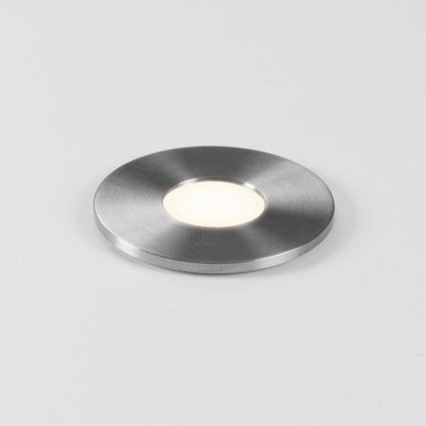 Terra 28 Round LED 1W 40lm 3000K 350mA IP65 põrandasse süvistatav valgusti, hämardatav, harjatud roostevaba, liiteseadmeta