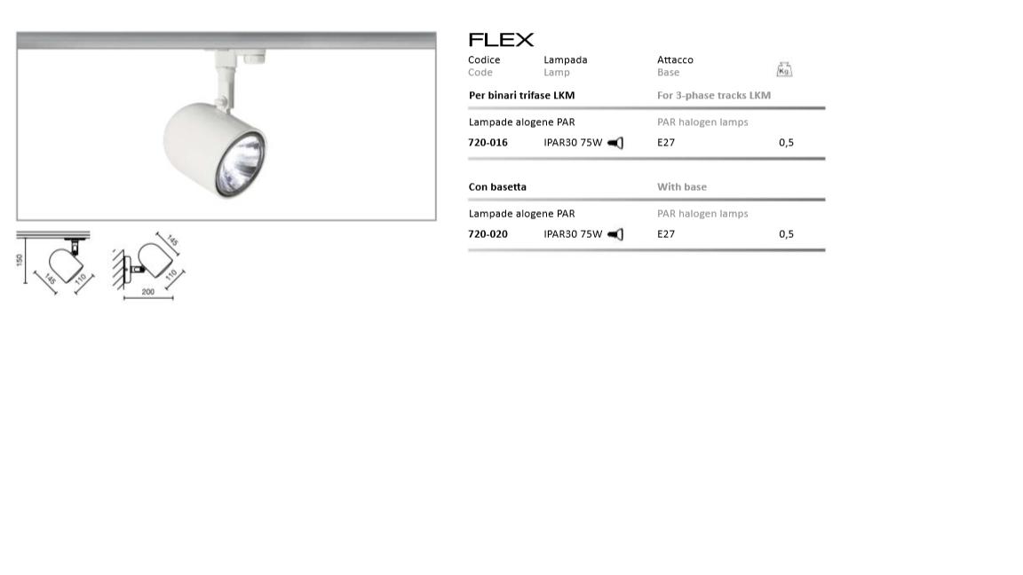 Flex 75W E27 PAR30 seinavalgusti MUST (fotol valge siinivalgusti)