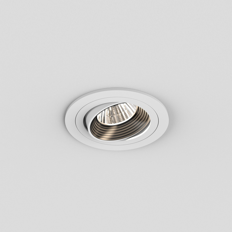 Aprilia Round LED 6,1W 628lm 3000K 39° IP21 süvisvalgusti, hämardatav, matt valge, liiteseadmeta