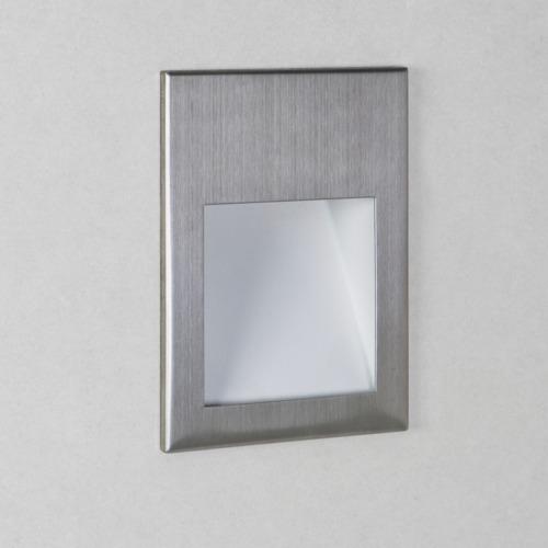 Borgo 54 LED 1W 30lm 2700K CRI90 IP65 seina süvistatav valgusti, hämardatav, harjatud roostevaba, liiteseadmeta