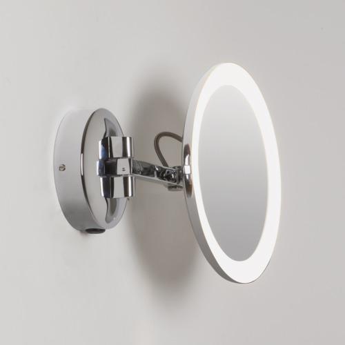 Mascali LED 5,7W, 5x suurendusega, valgustatud peegel vannituppa, 2700K, CRI80, 93lm Vanity Mirror Light IP44, lülitiga