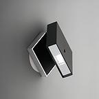 Vibia+Seinavalgusti ALPHA LED 1x2,1W 2700K black and chrome