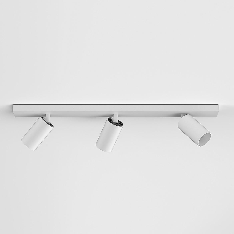 Can 50 Triple Bar LED 22,6W 1435lm 3000K IP20 kohtvalgusti, hämardatav, matt valge