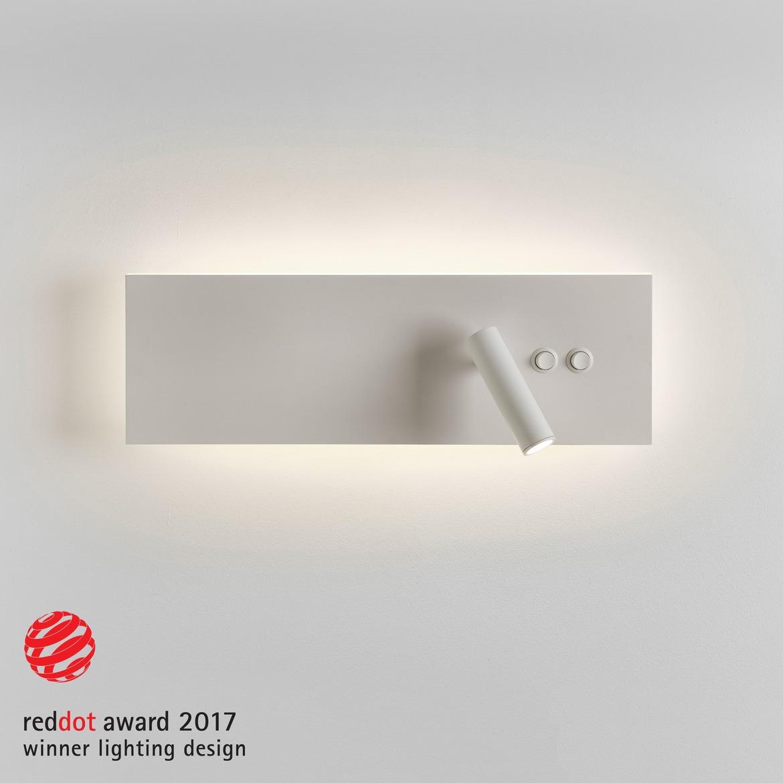 Edge Reader LED 15,3W 486lm 2700K + 3,9W 142lm 2700K CRI90 IP20 seinavalgusti, kahe lülitiga, matt valge