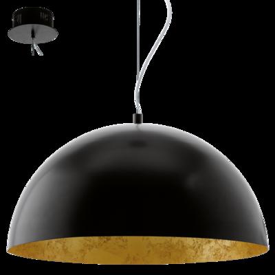 Gaetano, LED 24W 2210lm 3000K, must-kuldne, Ø 530mm, teras