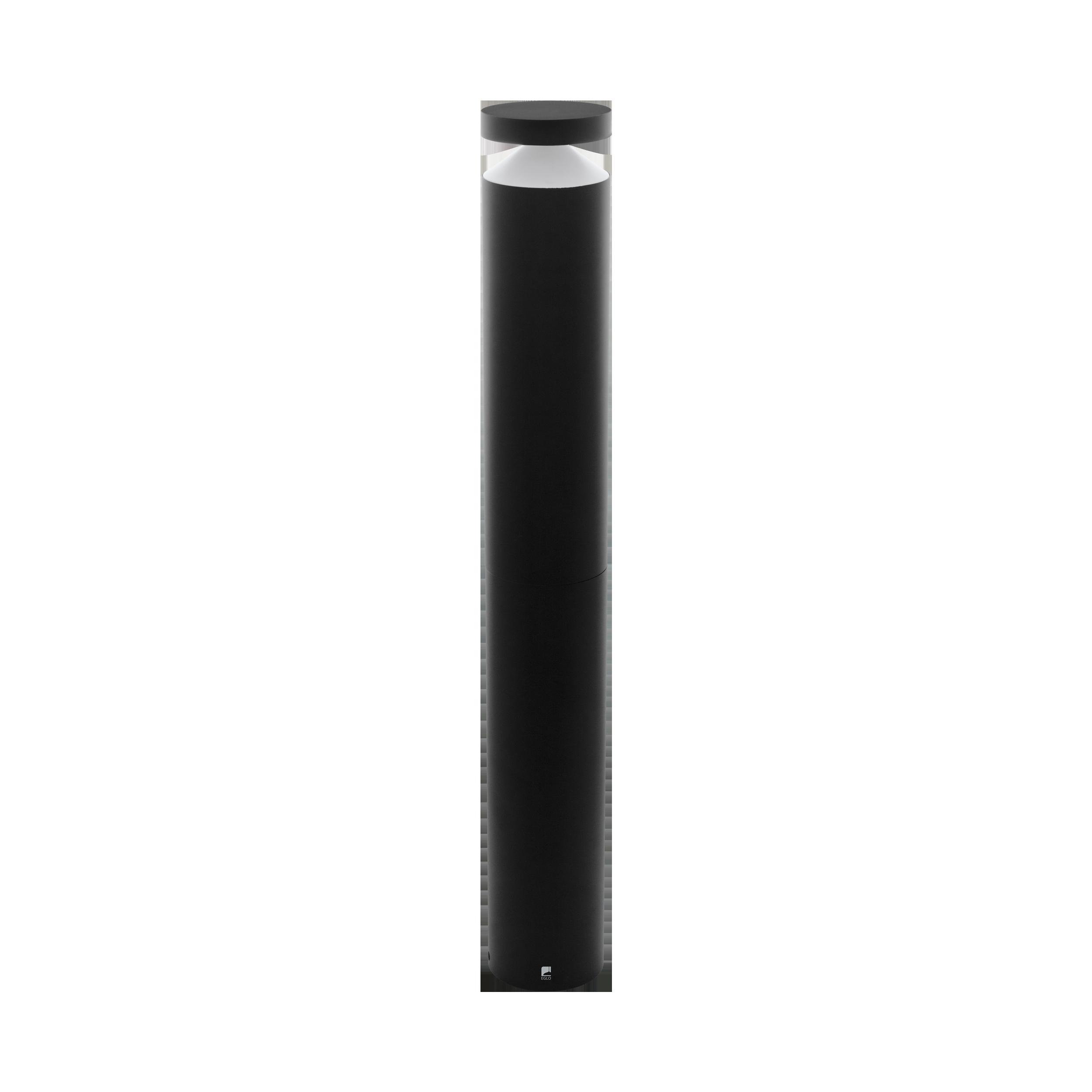 MELZO 11W LED 950lm 3000K IP44 must alumiinium raam