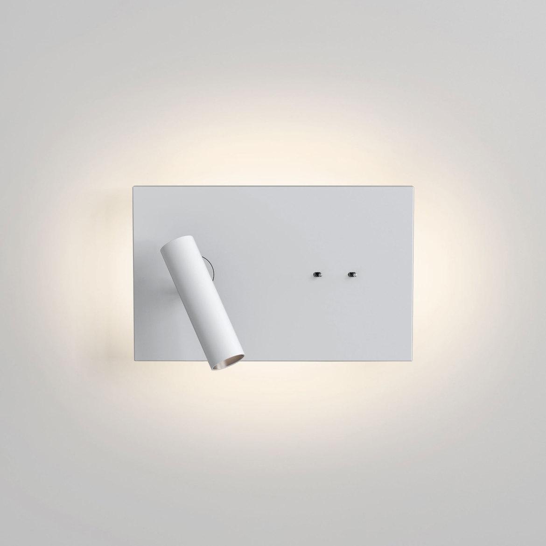 Edge Reader Mini LED 9,7W 112lm 2700K + 4,1W 149lm 2700K CRI90 IP20 seinavalgusti, kahe lülitiga, matt valge
