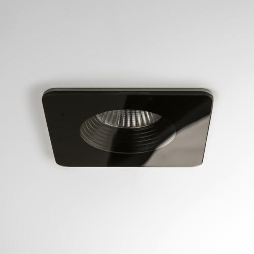Vetro Square LED 6W 629lm 3000K 18° IP65 süvisvalgusti, hämardatav, must, liiteseadmeta