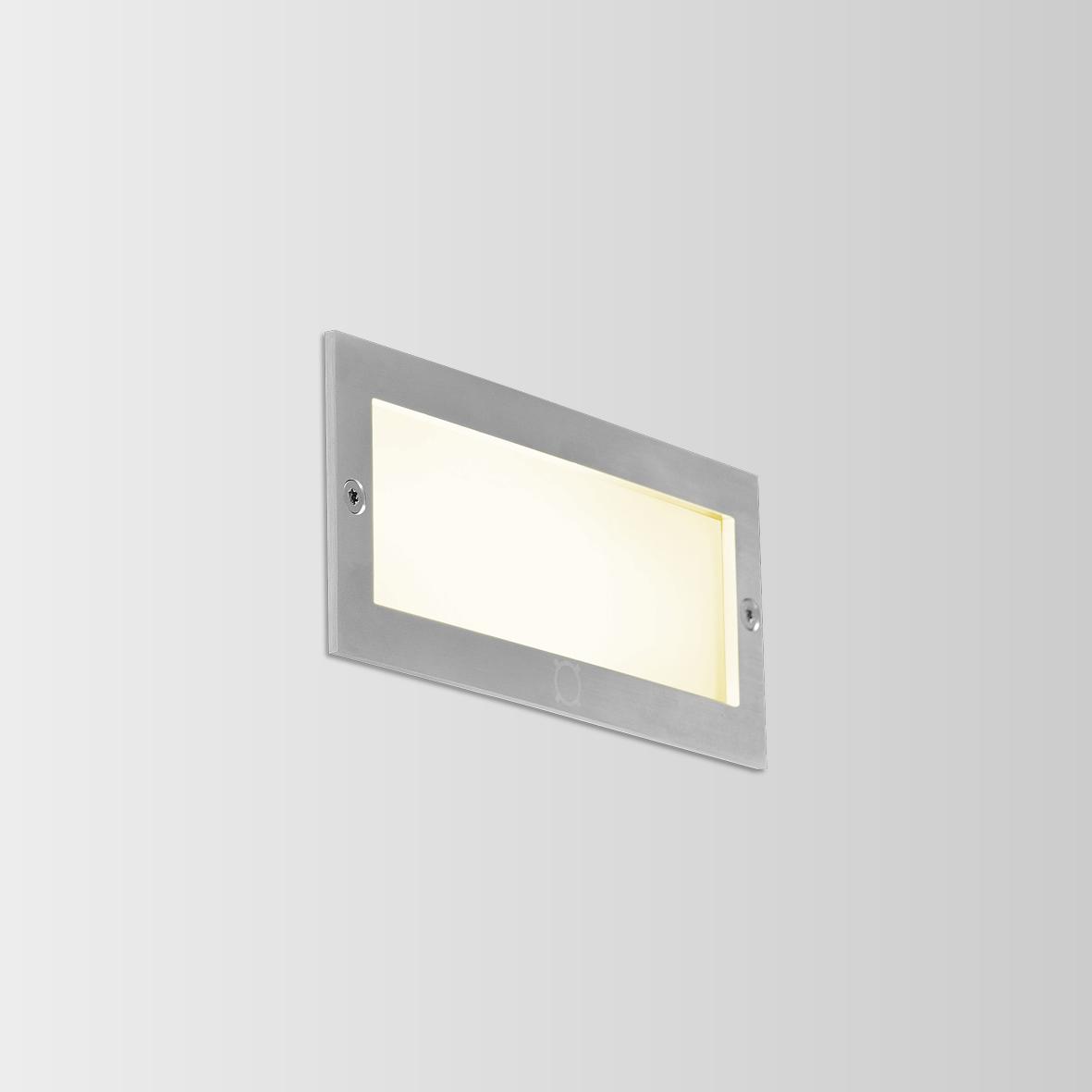 ATIM 1.0 LED 3000K DIM INOX 6W 80CRI 220-240VAC, välisvalgusti seina süvistatud