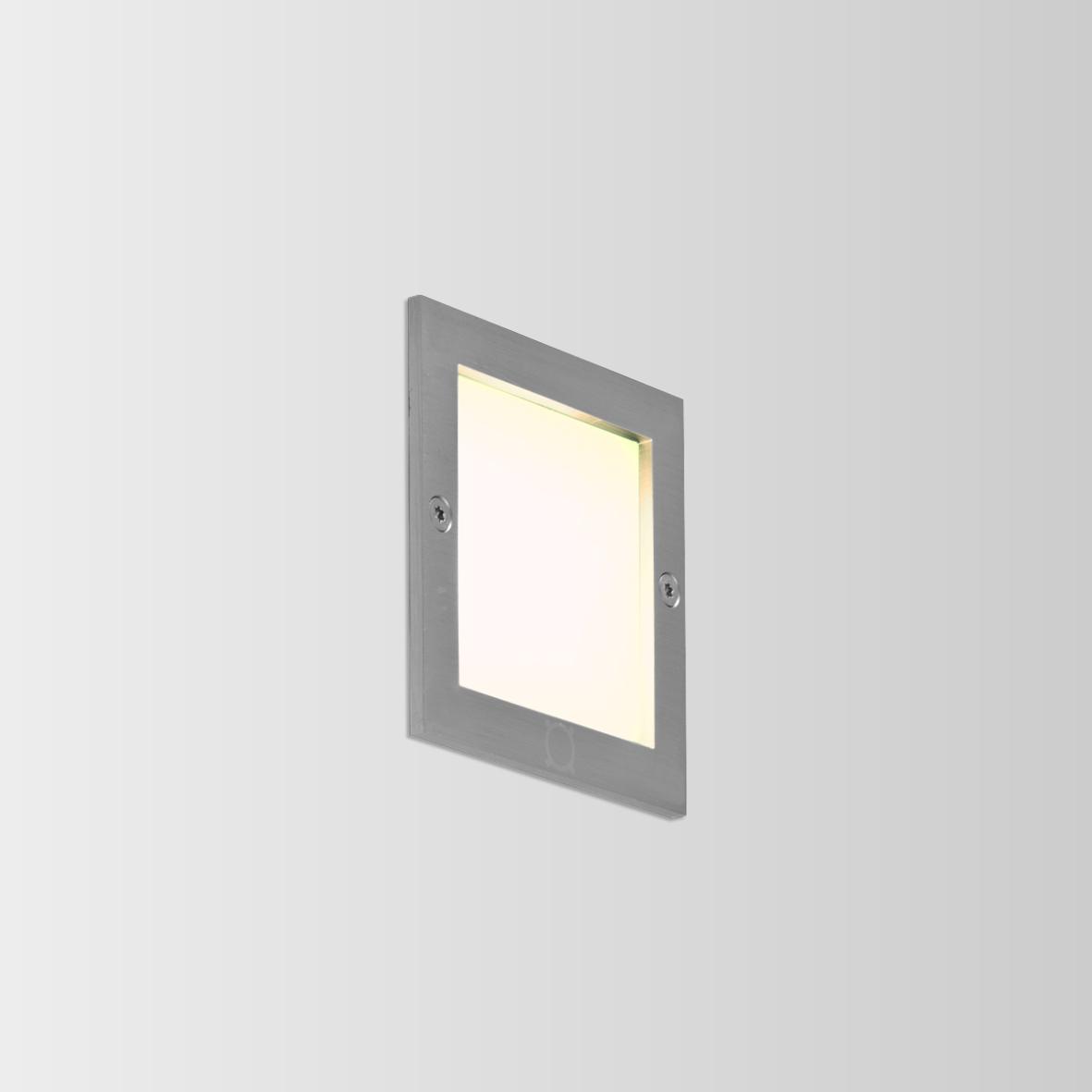 ATIM CARRÉ 2.0 LED 3000K DIM INOX 6W 80CRI 220-240VAC, välisvalgusti seina süvistatud
