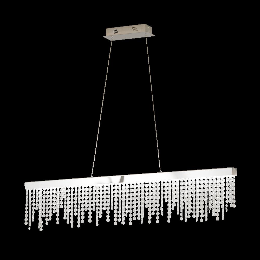 ANTELAO LED 32W 4200lm 4000K hämardatav 1150X90mm; metall, kroom / kristall