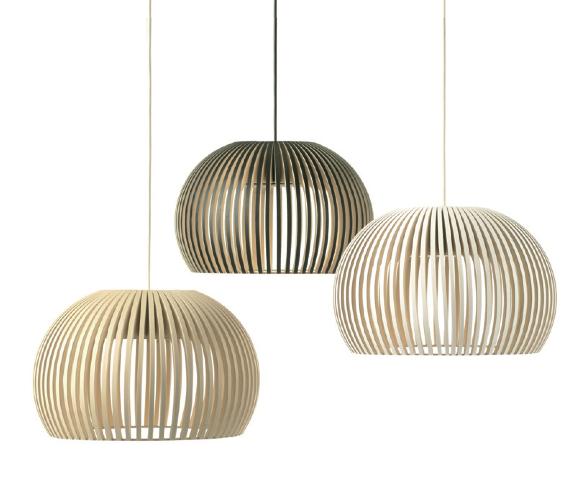 Secto Design+Atto 5000 LED dim. (13W 3000K 800lm) d=34cm h=21cm naturaalne kask rippvalgusti