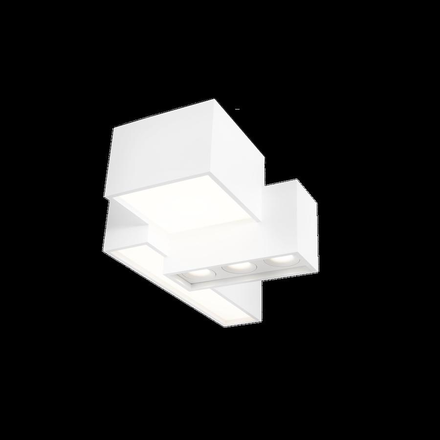 Bebow 2.0 LED 55W 3000K opal+spot dim 80CRI 220-240V, Valge
