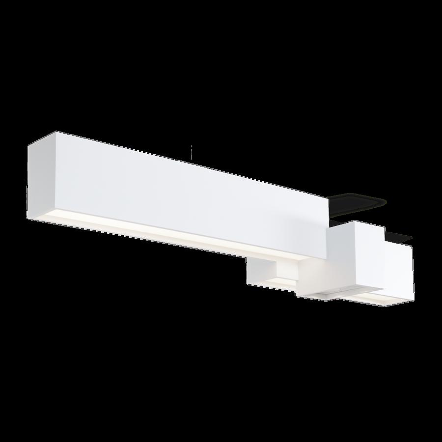 Bebow 4.0 LED 48W 3000K opal+spot dim 80CRI 220-240V, Valge