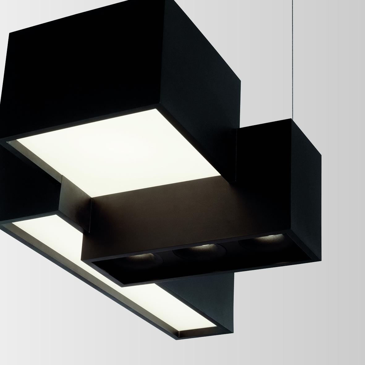 BEBOW 2.0 LED OPAL+SPOT DIM MUST 55W 3000K 80 220-240VAC, rippvalgusti