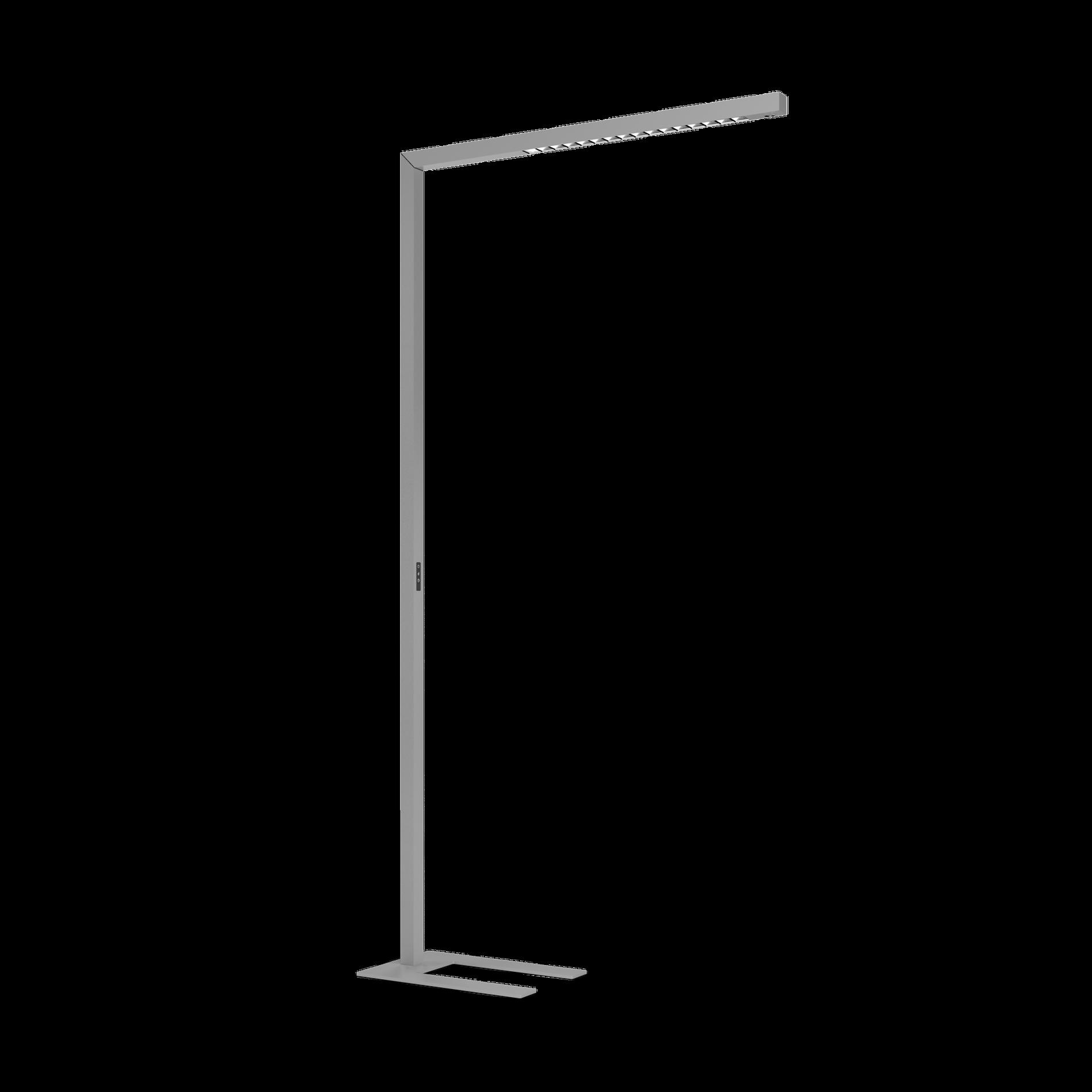 BETO LED 59W 7500lm 4000K UGR<13 touch DIM lülitiga; alumiinium, hall