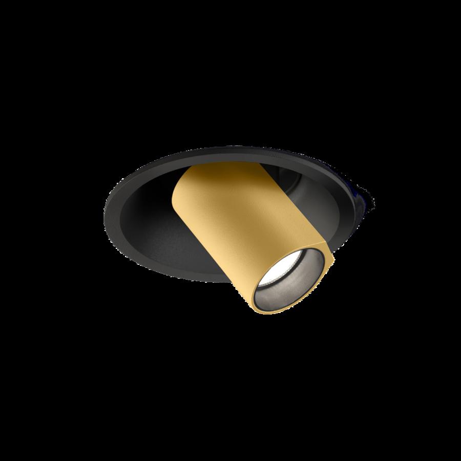 Süvisvalgusti BLIEK ROUND petit LED 6W 440lm 2700K CRI90 must-kuldne