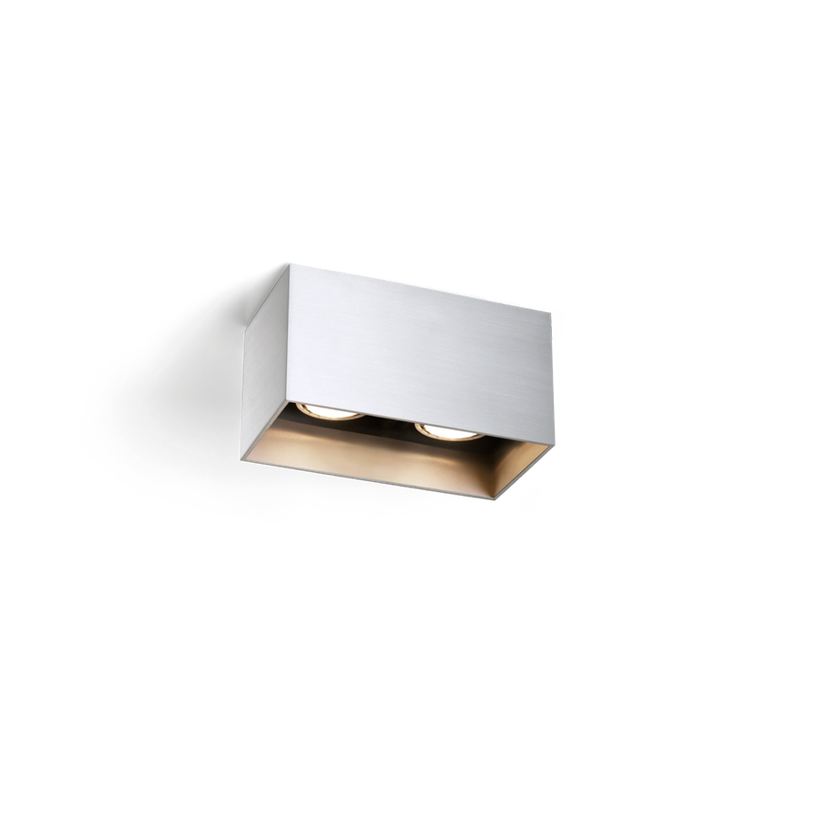 Box Ceiling 2.0 LED 2x8W 2700K dim 80CRI 220-240V, Alumiiniumvärv