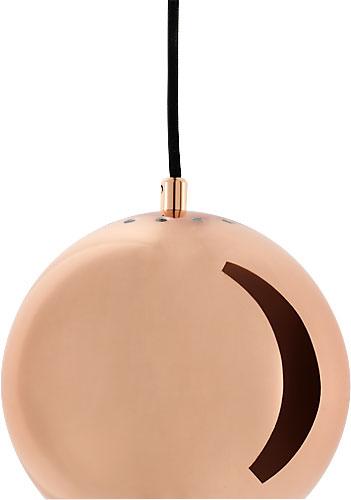 BALL 40W E27 vask (läikiv) rippvalgusti d=18cm h=2m musta juhtmega