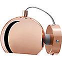 BALL 30W E14/R39 vask (läikiv) seinavalgusti magnetiga, d=12cm, lüliti läbipaistval juhtmel