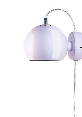 BALL 30W E14/R39 heleroosa (läikuv) seinavalgusti magnetiga, d=12cm, lüliti läbipaistval juhtmel