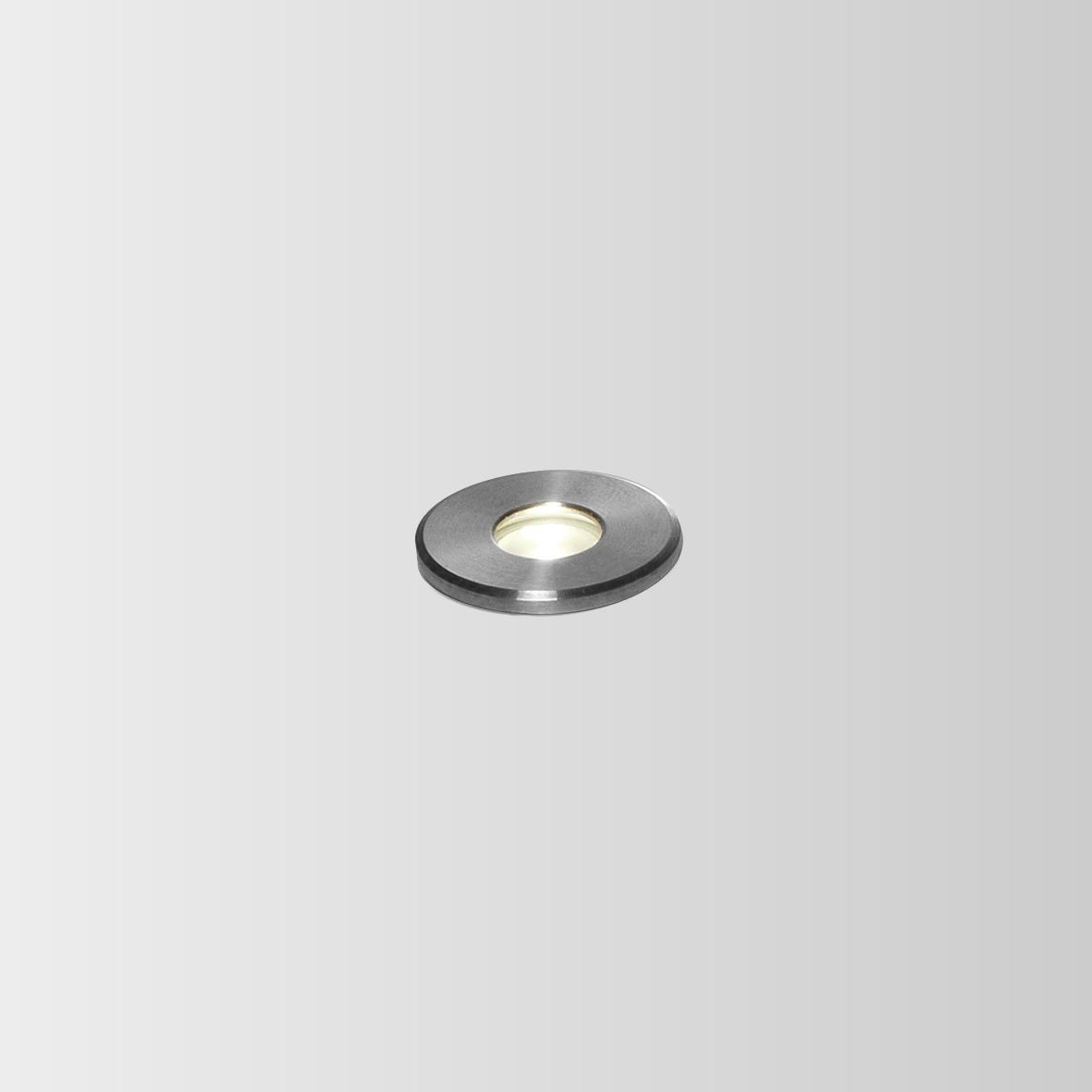 CARD 0.1 LED 3000K INOX 1W 80CRI 350mA, välisvalgusti süvistatud pinnasesse