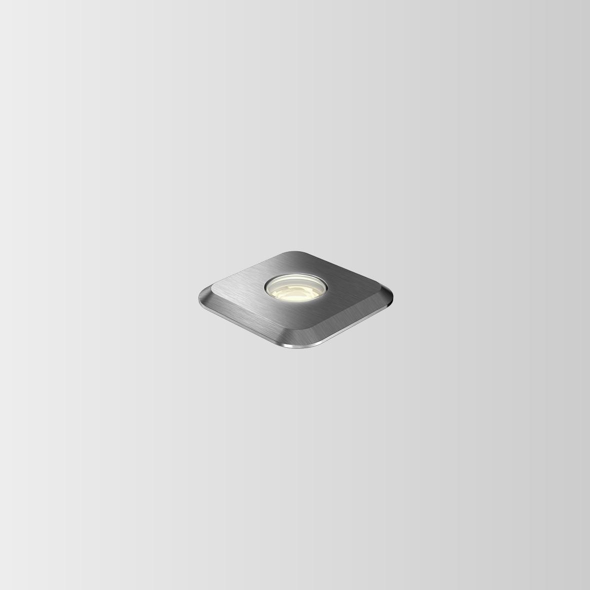 CARD 0.3 LED 3000K INOX 1W 80CRI 350mA, välisvalgusti süvistatud pinnasesse