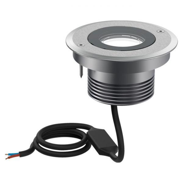 Süvisvalgusti CNC 120 T LED 9W 712lm 3000K 60° IP68 drive-over max 2000kg alumiinium, hall