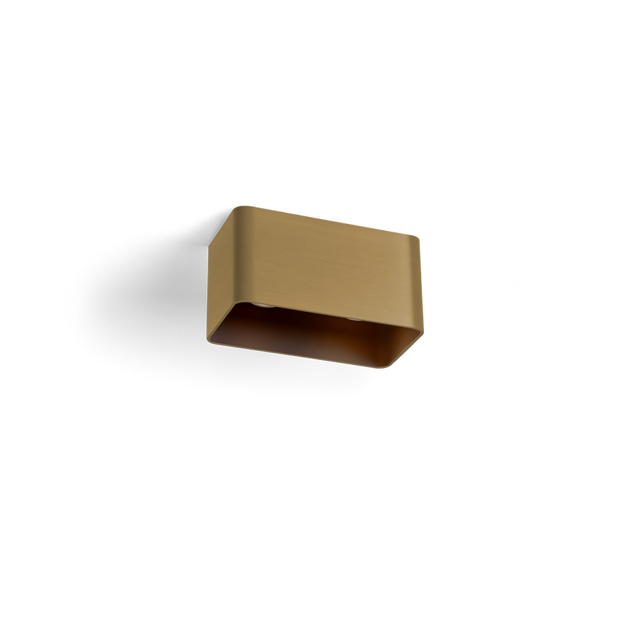 Docus Ceiling 2.0 LED 2x8W 2700K dim 80CRI 220-240V, Kuldne